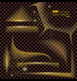 set of gold transparent realistic paper shadows vector image