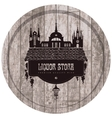 wooden barrel with wine shop vector image