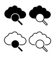 Cloud with magnifier icon vector image
