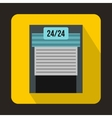 24 hours parking icon flat style vector image vector image