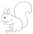 a children coloring bookpage a cartoon squirrel vector image