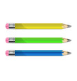 a set of pencils vector image vector image