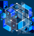 abstract blue black background created in vector image vector image