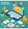 Accounting infographics set vector image