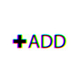 add some color text vector image vector image
