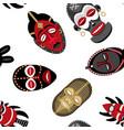 african masks pattern 2 vector image vector image