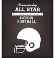 American Football sport game vector image