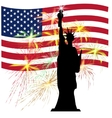 American Independence Day US symbols vector image vector image