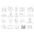 Architecture and Construction line icons set vector image vector image