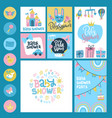 baby shower or arrival big set - tags banners vector image