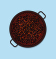 bbq grill top view vector image vector image