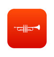 brass trumpet icon digital red vector image vector image