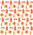 bright fun summer seamless pattern with sunscreen vector image vector image
