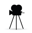 camera old in black color vector image
