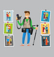 cameraman take orders on birthdays and parties vector image vector image