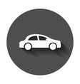 car icon in flat style automobile car with long vector image vector image