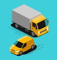 cargo transport delivery service logistics vector image