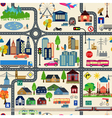 City map generator City map example Elements for vector image vector image