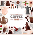 coffee time decorative frame vector image vector image