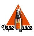 color vintage vape e-cigarette emblem vector image