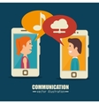 communication concept design vector image vector image