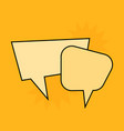 communication speech bubbles on yellow background vector image
