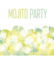 concept simple of mojito ingredients vector image