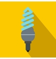 Fluorescent bulb icon flat style vector image vector image