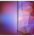 Geometric pattern polygon triangles vector image