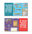 gift card set for corridor furniture vector image vector image