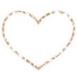 Golden ribbon heart EPS 10 vector image