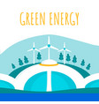 green electricity production flat banner template vector image vector image