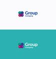 Group logo vector image vector image