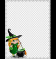 halloween spider coweb frame of cute baby witch vector image vector image