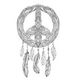 hand drawn boho of dream catcher with vector image vector image