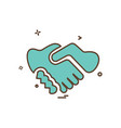 handshake icon design vector image