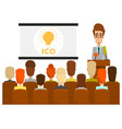 ico business presentation concept flat vector image