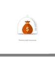 Insurance finance management budget plan pension vector image vector image