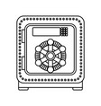isolated security box vector image