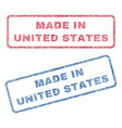 made in united states textile stamps vector image