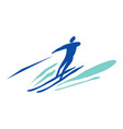 man on water skiing vector image vector image