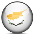Map on flag button of Republic of Cyprus vector image vector image
