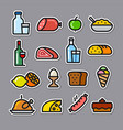meal stickers vector image