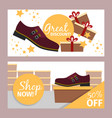men summer dark red shoe flyer vector image vector image