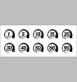 minute timer icons set vector image vector image