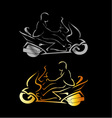 Motorbike with a person wearing helmet vector image vector image