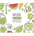 natural vegan food banner template element can be vector image vector image