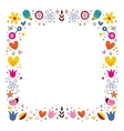 nature love harmony flowers abstract art frame vector image vector image