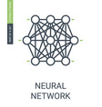 neural network icon knots cluster of neural web vector image vector image