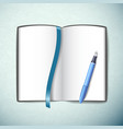 opened sketchbook vector image